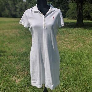 White polo cotton dress